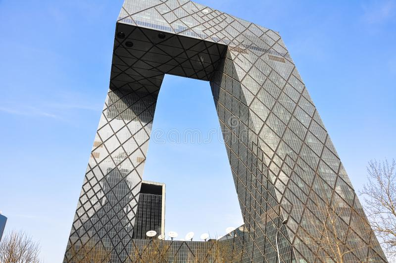 cctc de bouw in Peking China stock fotografie