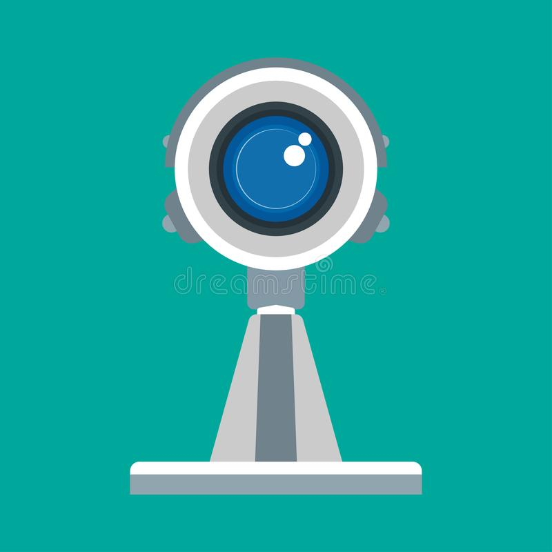 CCTV正面图监视室外凸轮私有传染媒介象 照相机监视viedo保障系统卫兵观察小心 库存例证