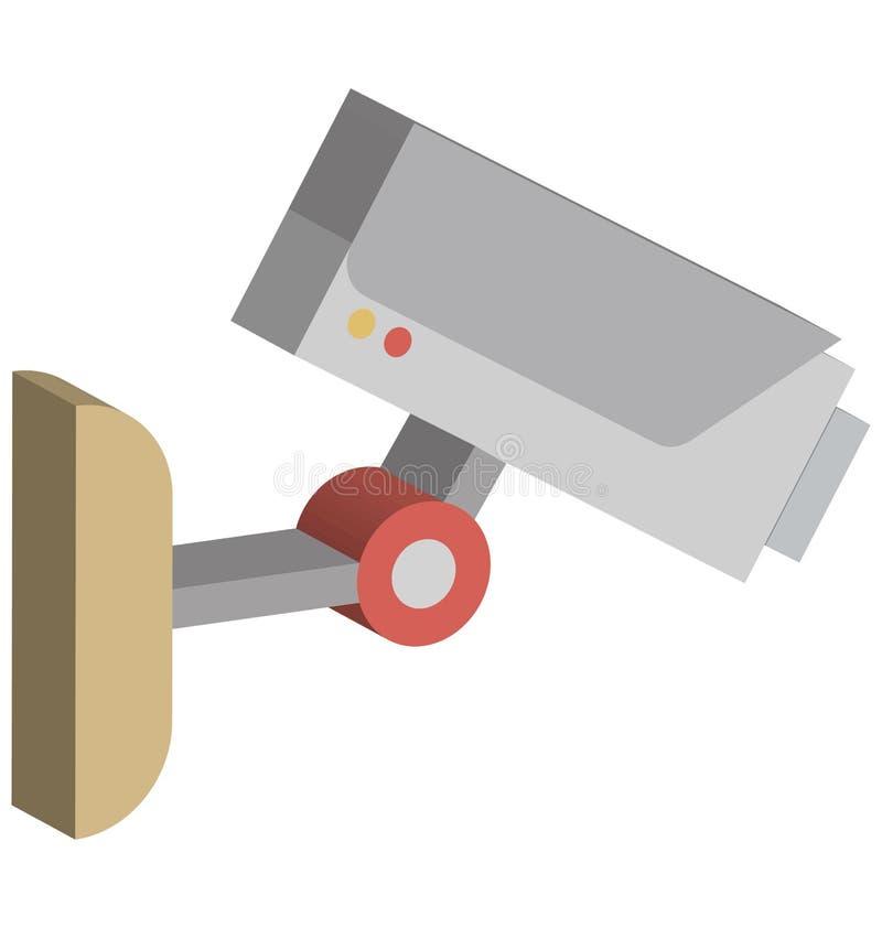 Cctv照相机隔绝了可能容易地修改或编辑的等量传染媒介象 皇族释放例证