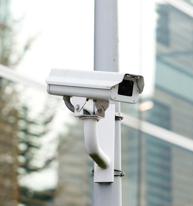 CCTV记录的安全监控相机看和 库存照片