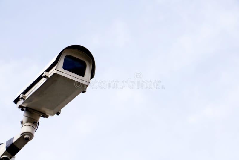 CCTV运行在家的安全监控相机 免版税库存照片