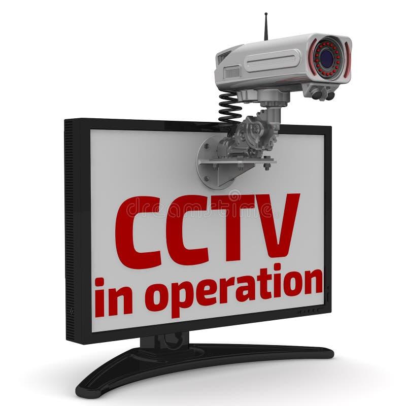 CCTV σε λειτουργία Κάμερα και όργανο ελέγχου CCTV απεικόνιση αποθεμάτων