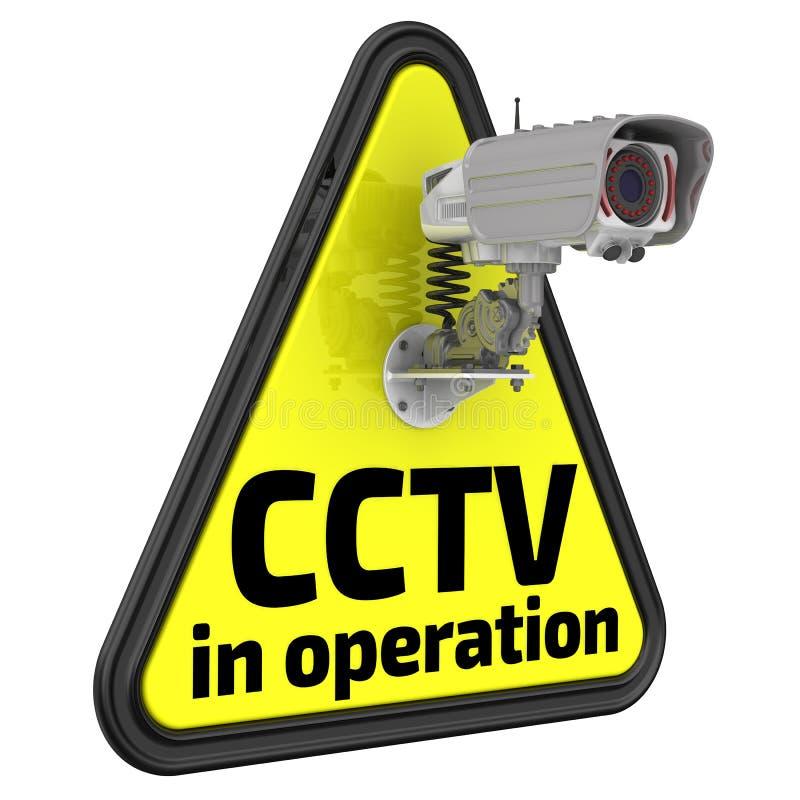 CCTV σε λειτουργία μπλε όψη απόχρωσης οδικών σημαδιών γωνίας ευρέως ελεύθερη απεικόνιση δικαιώματος