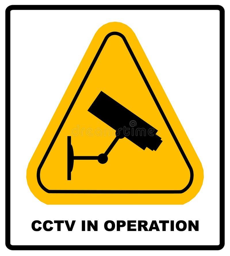 CCTV στο σημάδι λειτουργίας - διανυσματικό σχήμα ελεύθερη απεικόνιση δικαιώματος