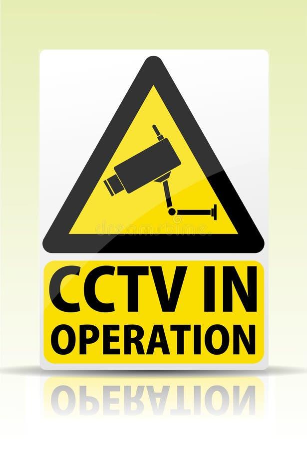 CCTV στο σημάδι λειτουργίας διανυσματική απεικόνιση