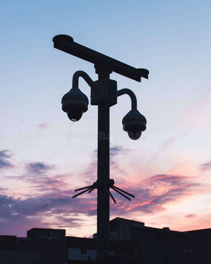 CCTV剪影照片  库存图片