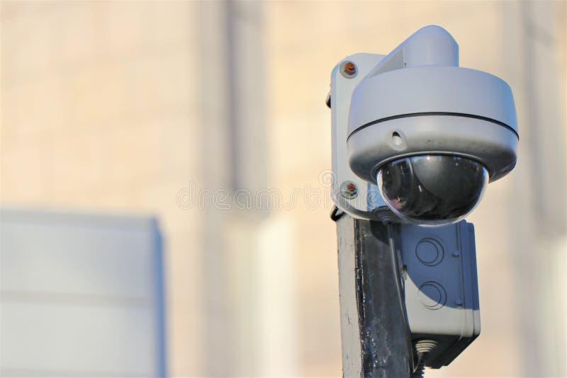 CCTV - Cámara de vídeo externa, vigilancia del tráfico foto de archivo