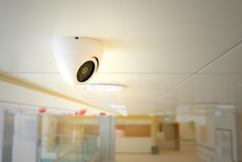 CCTV Camera. On the ceiling of hospital