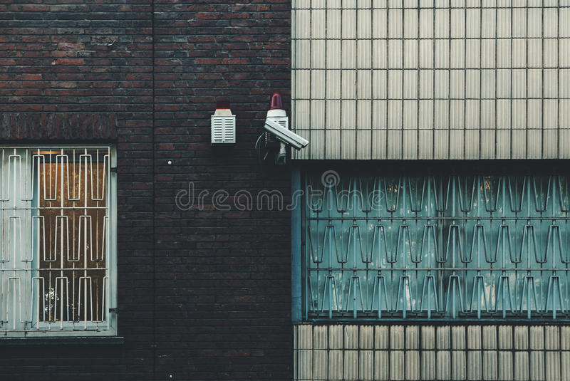 CCTV camera on house royalty free stock image