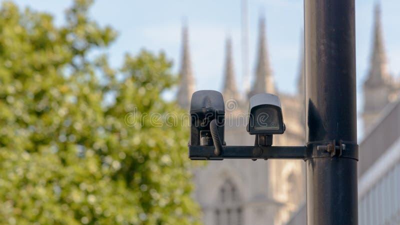 CCTV Camera in London stock photography