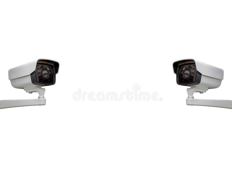 The CCTV camera security background with Clipping Path. CCTV camera security background with Clipping Path stock photo