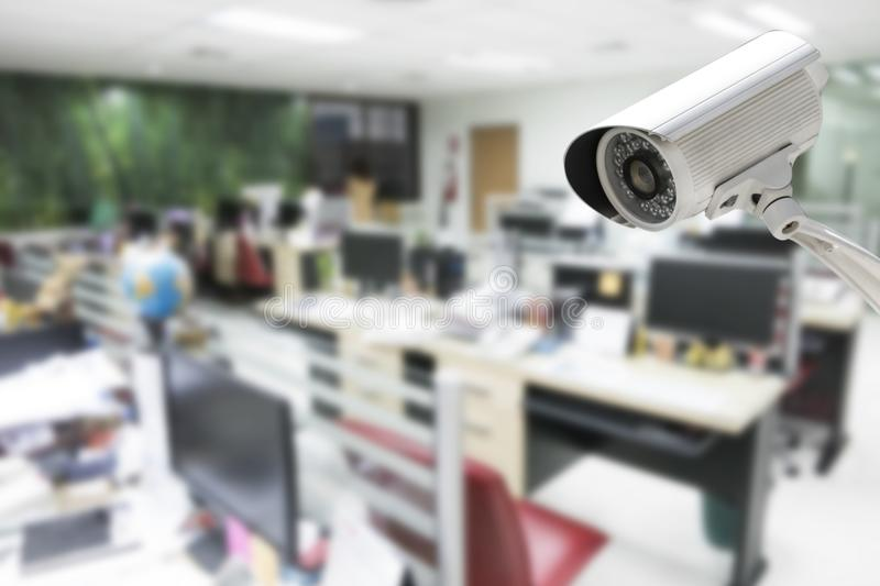 CCTV Camera security operating in office building.  royalty free stock photography
