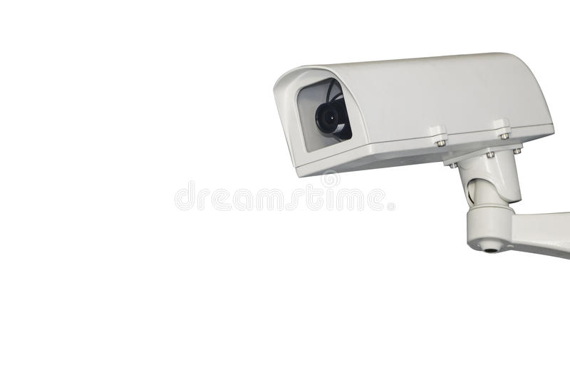 CCTV Camera of Surveillance. Isolate on white background with clipping path stock images