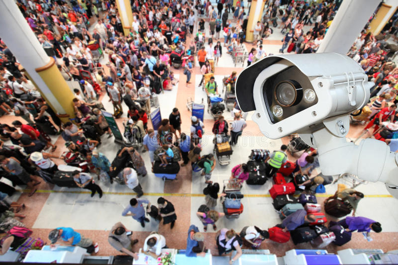 Download CCTV Camera Or Surveillance Operating In Air Port. Stock Image - Image of control, guard: 63193023