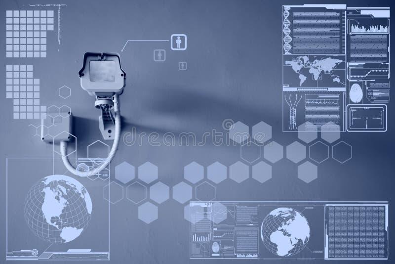 CCTV Camera or surveillance technology on screen display. CCTV Camera or surveillance operating technology on screen display stock image
