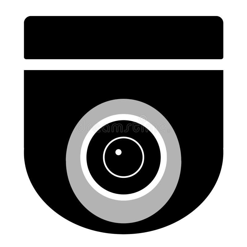 Cctv Camera On White Background Cctv Sign Stock Illustration