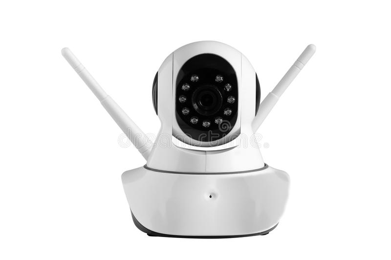 CCTV , camera wireless security isolated on white. Background royalty free stock photos