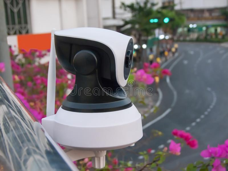 CCTV cameras are installed by the public. To monitor stock photo