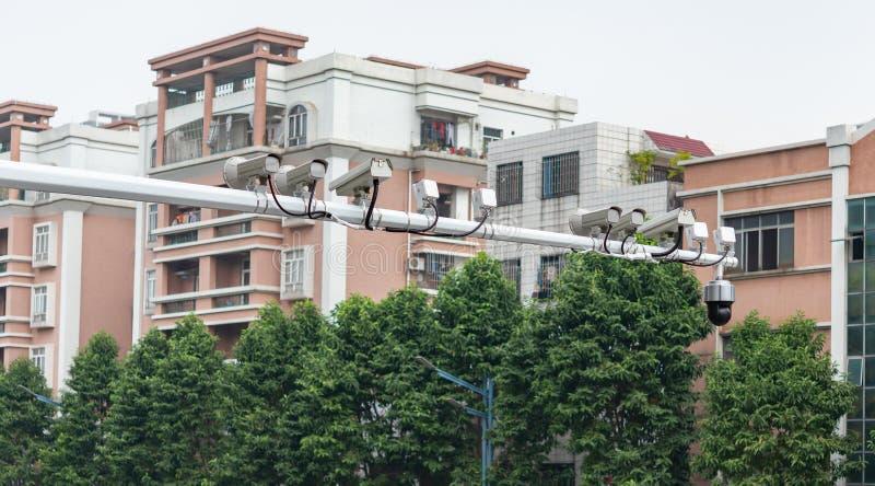 CCTV cameras in outdoor. CCTV cameras in the outdoor stock photo