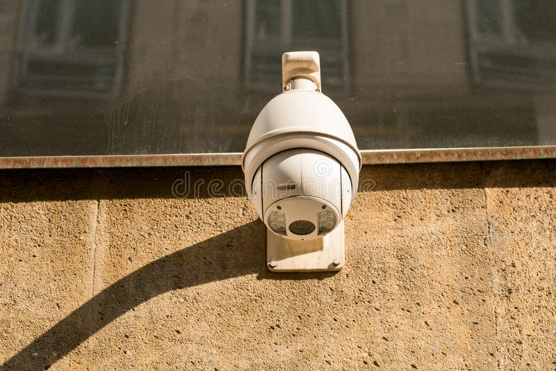 CCTV Cameras on the wall mounted. CCTV Cameras on the wall on te building royalty free stock photography