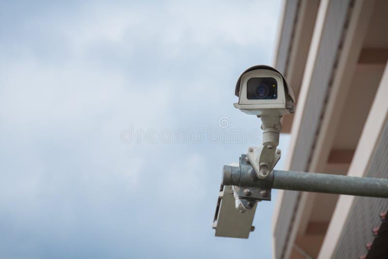 CCTV eller säkerhetskamera royaltyfri fotografi