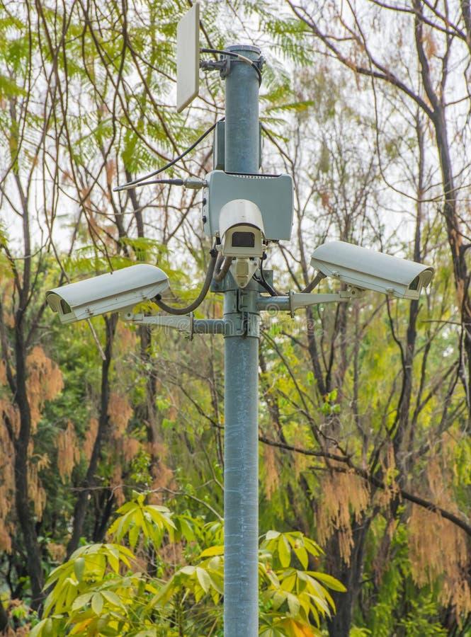 Cctv kamer park publicznie obraz royalty free