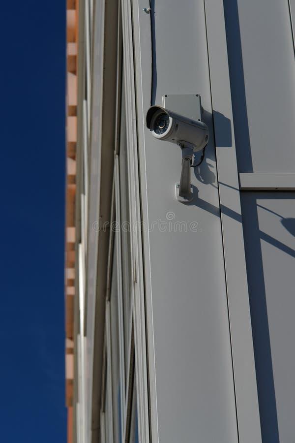 CCTV kamera bezpieczeństwa na ściennym outside zdjęcie royalty free