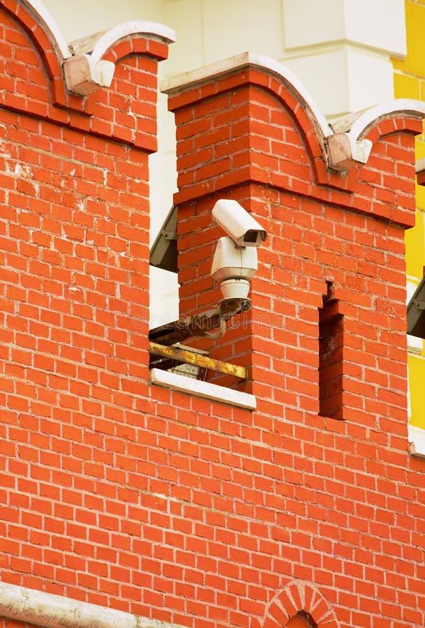 Download CCTV Kamera Na ścianie Moskwa Kremlin Zdjęcie Stock - Obraz złożonej z okulistyczny, technologia: 53790782