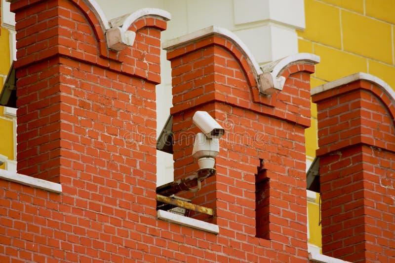 Download CCTV Kamera Na ścianie Moskwa Kremlin Zdjęcie Stock - Obraz złożonej z kontrola, inwigilacja: 53791186