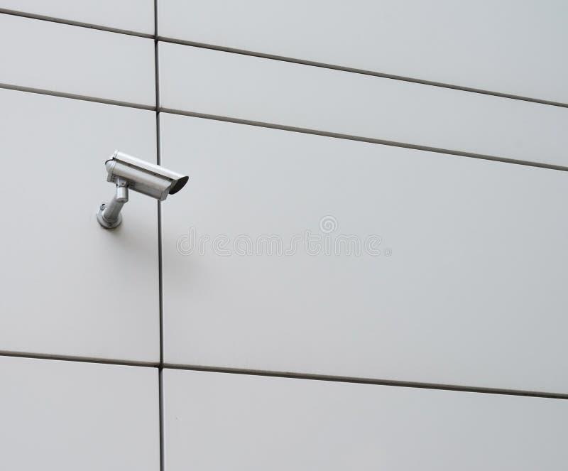 CCTV kamera na outside ścianie obrazy stock