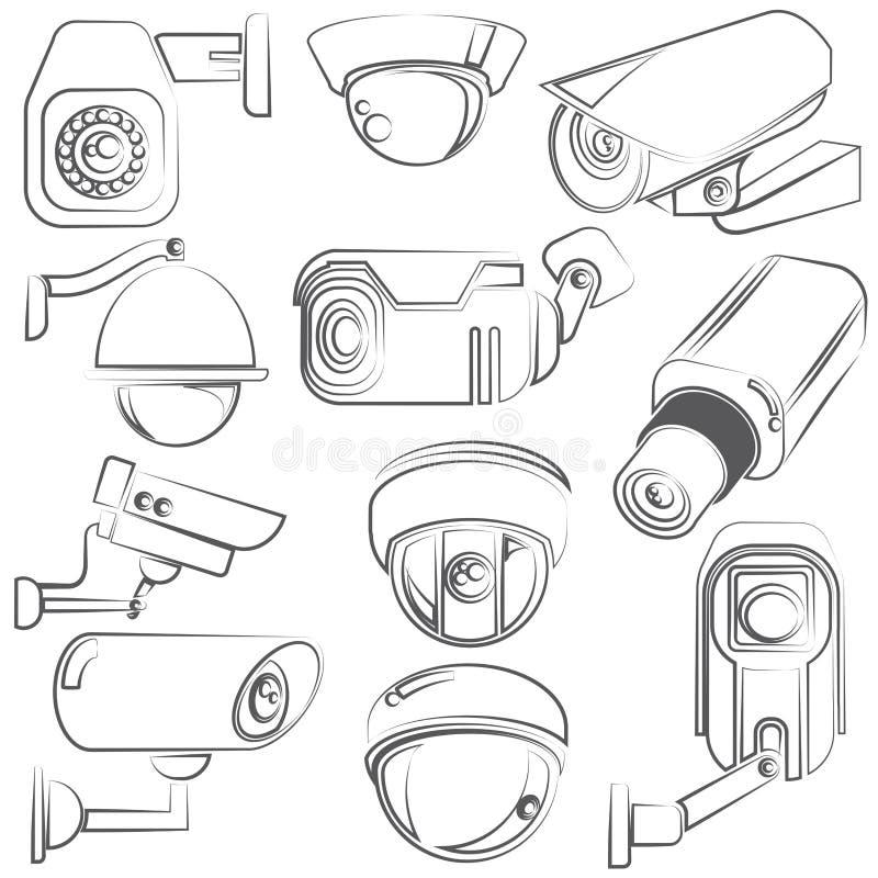 CCTV kamery royalty ilustracja