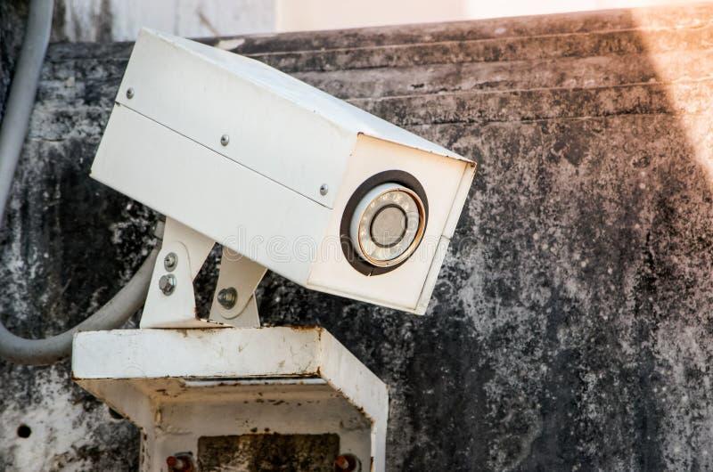 CCTV kamery ochrona w miastowym mieście zdjęcie royalty free
