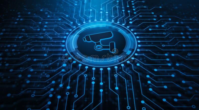 CCTV kamery systemu bezpiecze?stwa technologii bezpiecze?stwa Biznesowy poj?cie royalty ilustracja