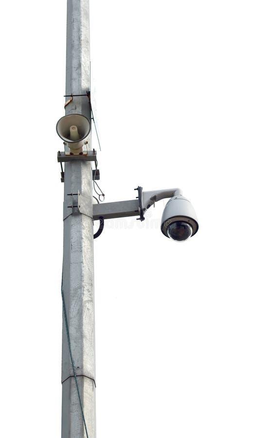 Download CCTV And Loudspeaker System Stock Illustration - Illustration: 22133483