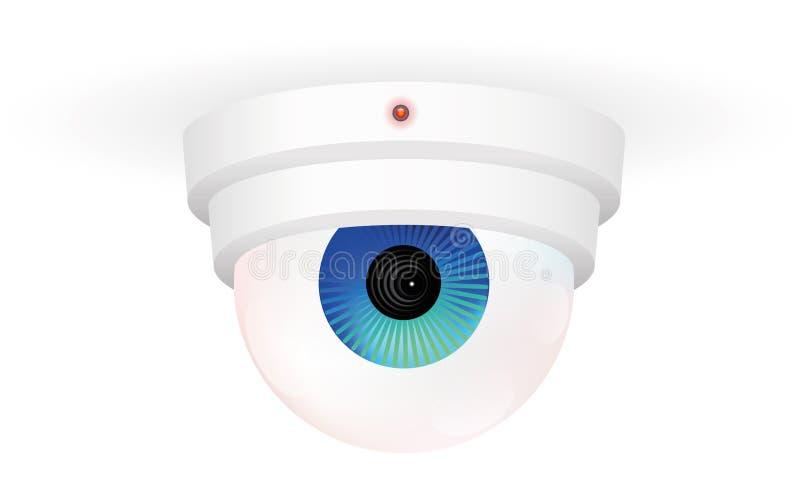 CCTV monitorowanie kamery oko royalty ilustracja