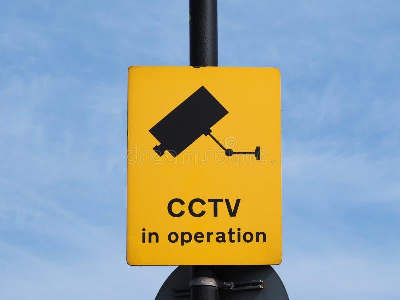 CCTV no sinal da operação imagem de stock royalty free