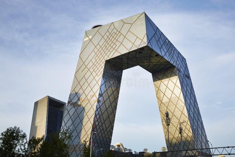CCTV futuristic building china royalty free stock image