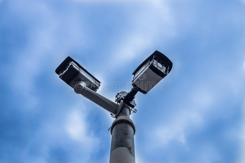CCTV plenerowa kamera bezpieczeństwa obrazy stock