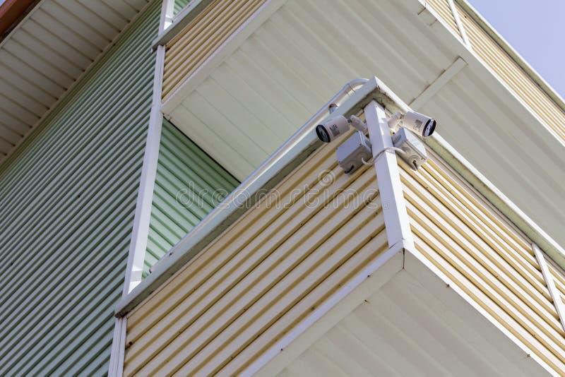 CCTV Security Camera. Cameras, surveillance. royalty free stock photos