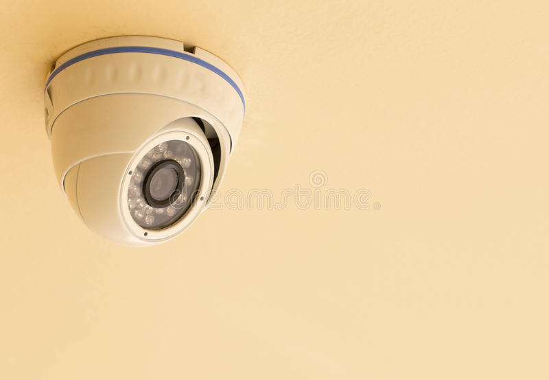 CCTV Security camera isolated white background. stock photo