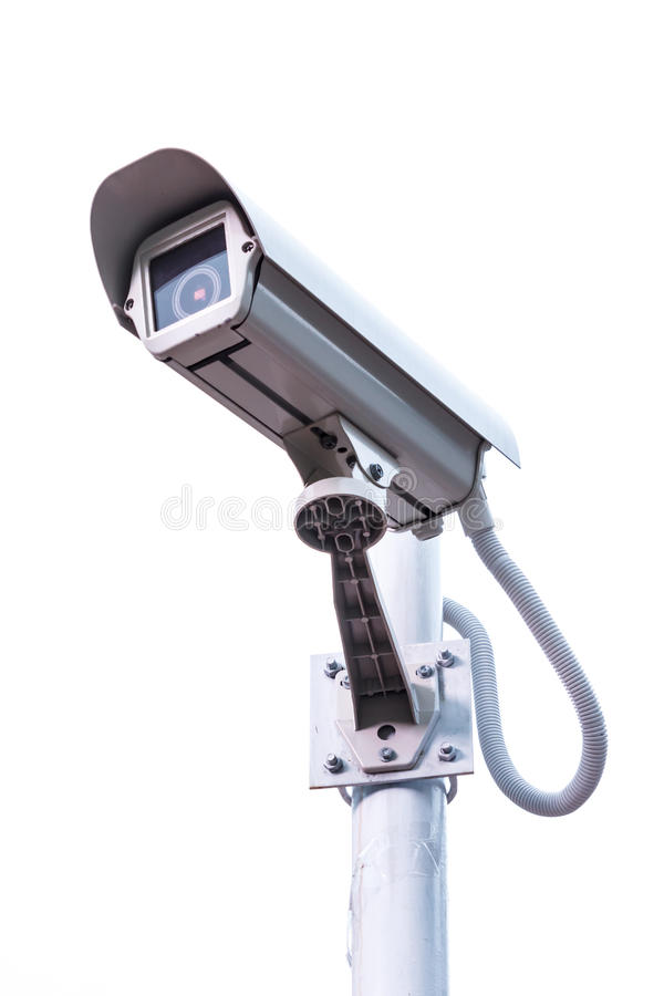 CCTV. Security camera on white background stock photography