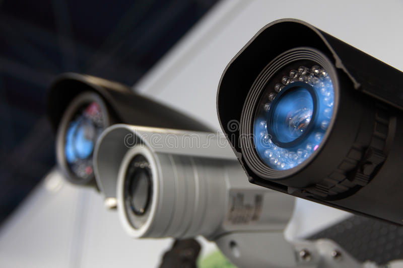 CCTV security cams. royalty free stock image