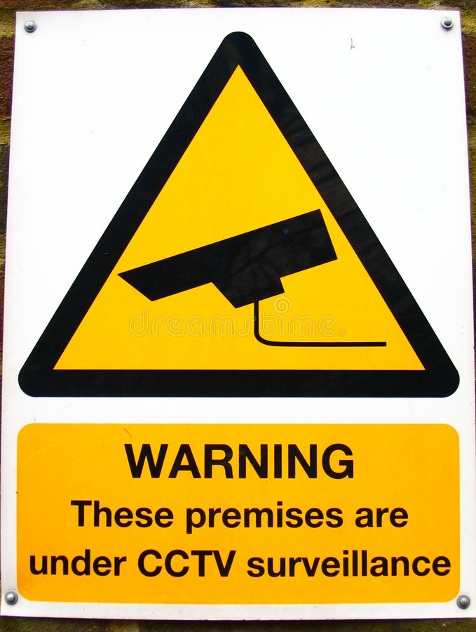 Download CCTV sign stock image. Image of close, isolated, english - 4270669