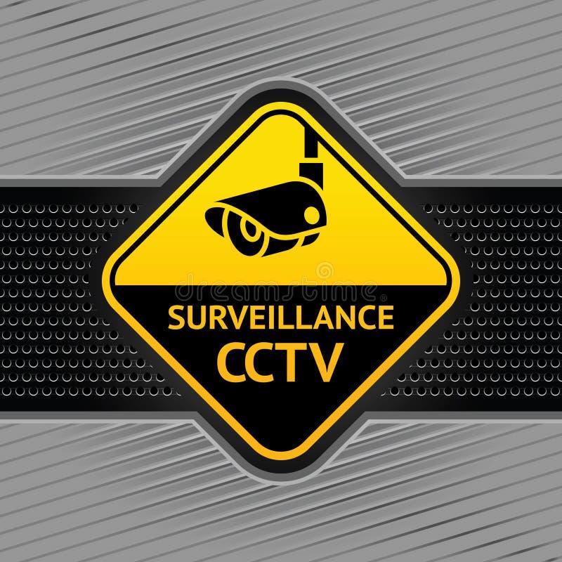 Cctv-Symbol auf einer industriellen Schablone des Hintergrundes stock abbildung