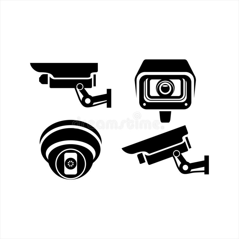 Cctv-symbol för logo stock illustrationer