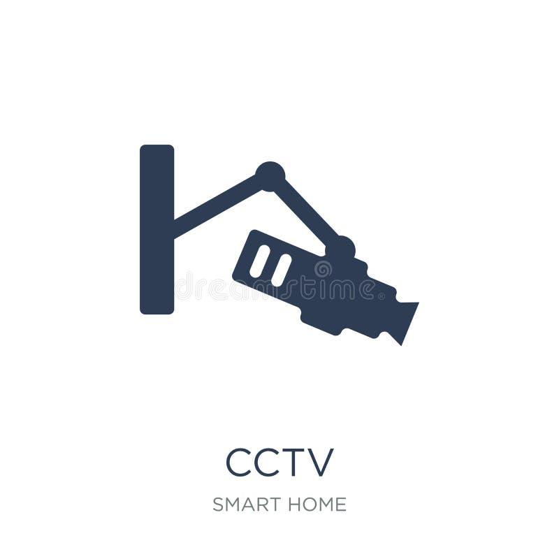Cctv-symbol Moderiktig plan vektorCctv-symbol på vit bakgrund från stock illustrationer