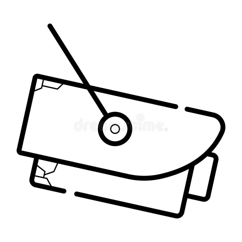 Cctv-vektorsymbol stock illustrationer