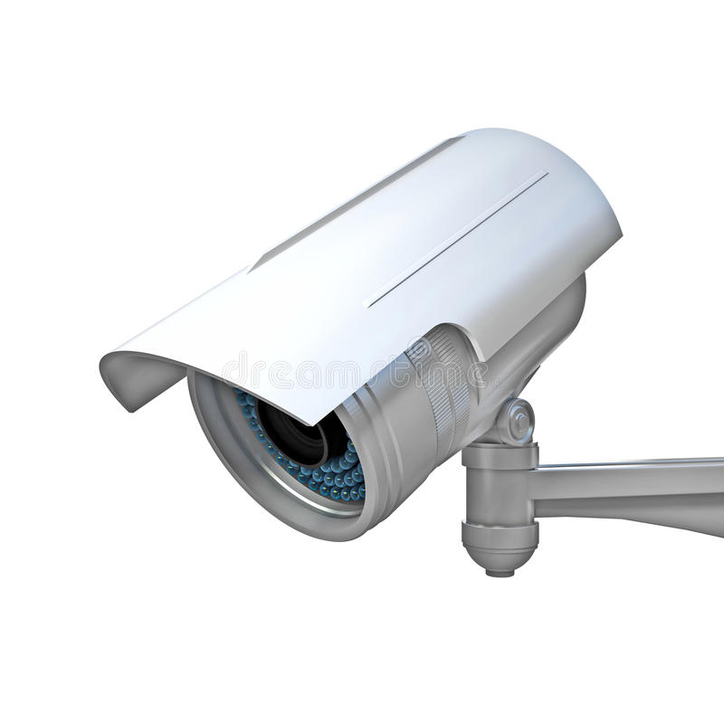 Cctv on white. 3d image of classic infrared cctv vector illustration