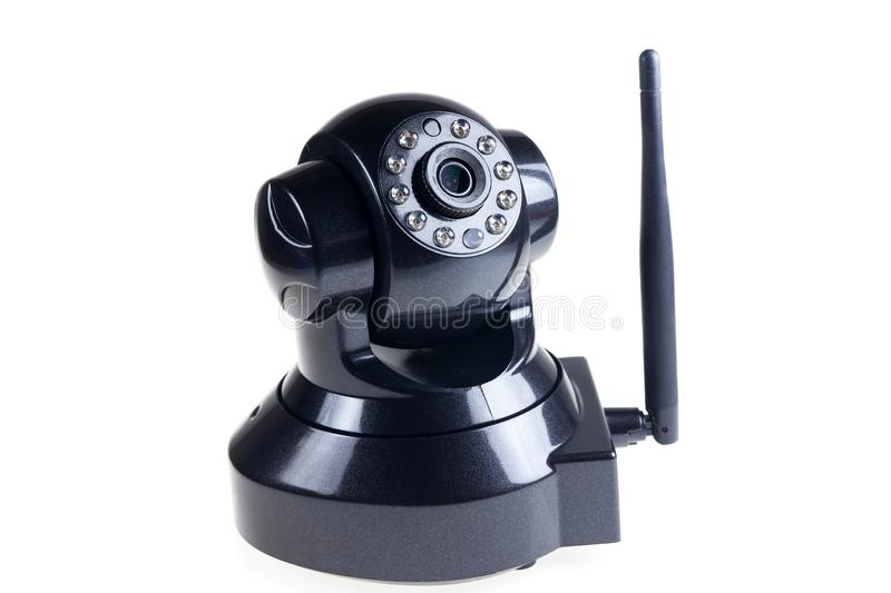 CCTV Wireless on white background. Accessory, black, camera, communication, control, digital, electric, electrical, electronic, equipment, home, industry royalty free stock image