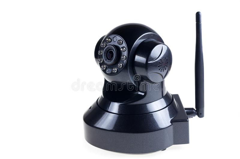 CCTV Wireless on white background. Accessory, black, camera, communication, control, digital, electric, electrical, electronic, equipment, home, industry stock image